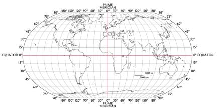 World map showing prime meridian and equator world latitude and world map blank with latitude and longitude latitude and longitude gumiabroncs Gallery