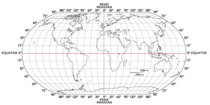 Latitude and longitude the robinson projection designed by the national geographic society gumiabroncs Images
